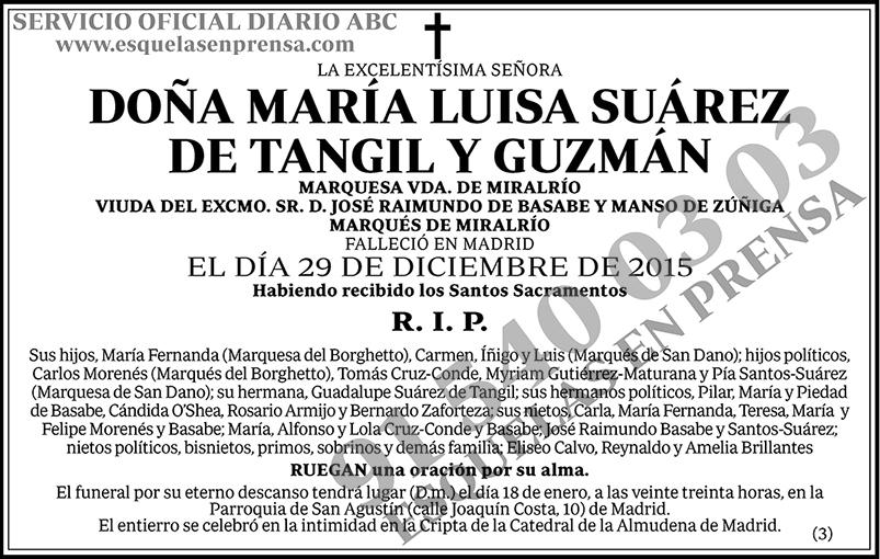 María Luisa Suárez de Tangil y Guzmán